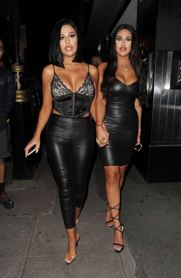 Anna and Mandi Vakili - Night out at Playboy Club in Mayfair