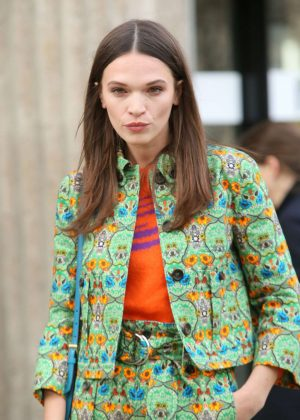 Anna Brewster at Miu Miu Show 2017 in Paris