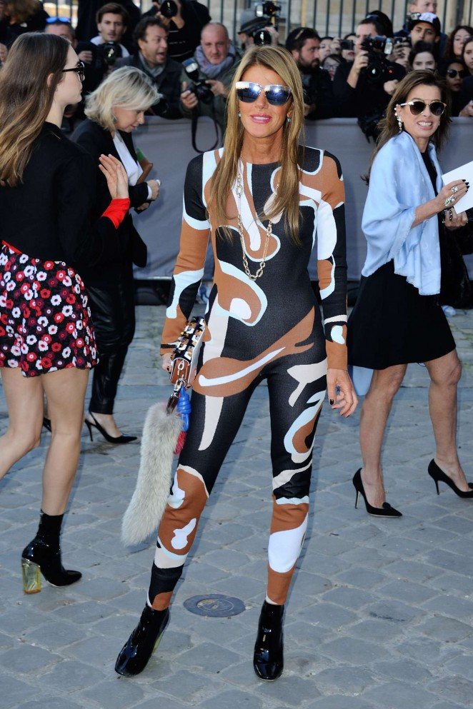 Anna Dello Russo - Christian Dior Show in Paris