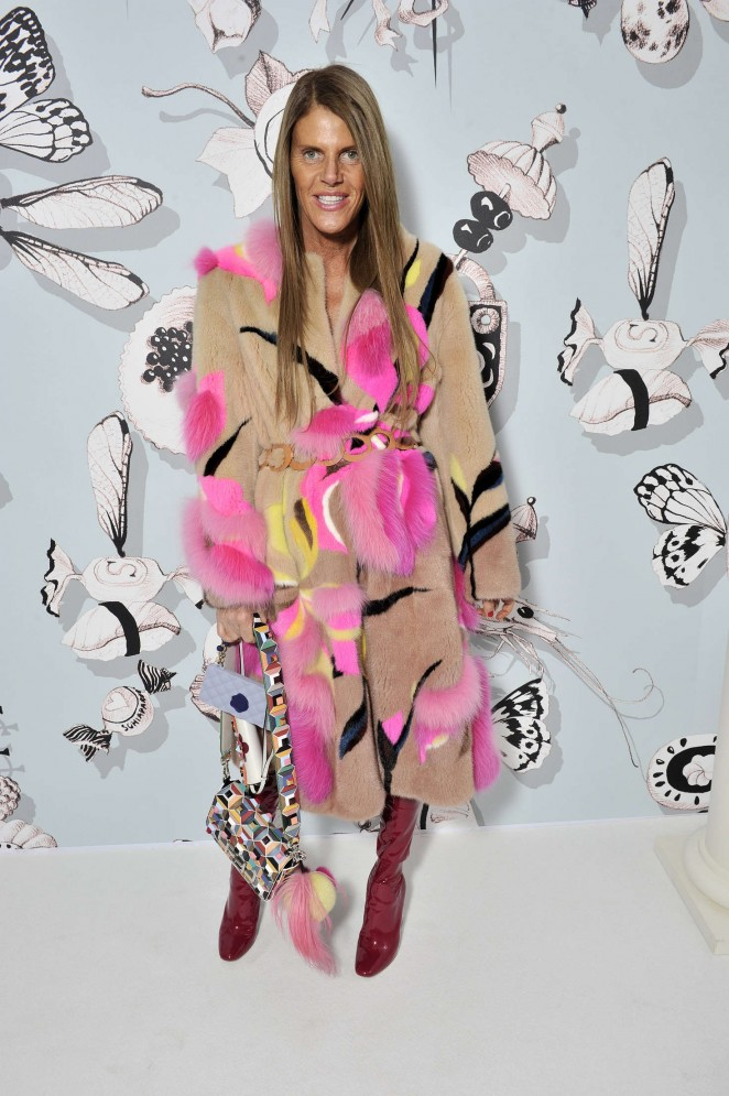 Anna Dello Russo - People at Haute Couture Fashion Show Schiaparelli SS 2016 in Paris