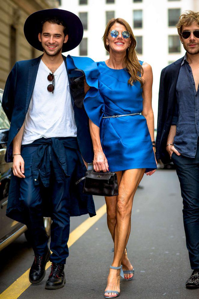 Anna dello Russo - Salvatore Ferragamo Fashion Show 2016 in Milan