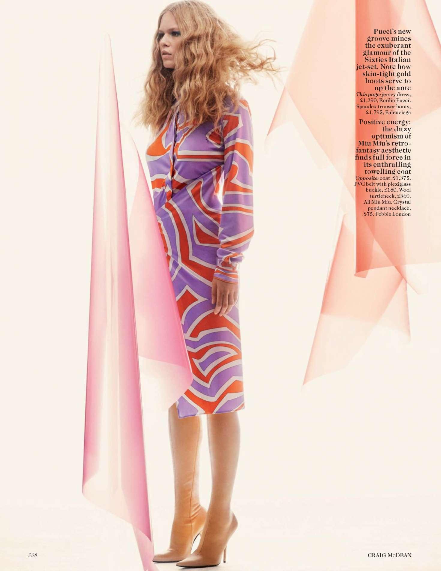 2017 05 fashion jersey dress - Anna Ewers Vogue Uk 2017 05 Full Size