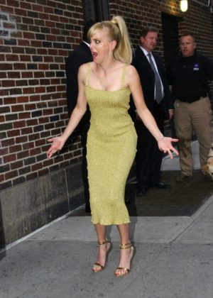 Anna Faris - Arriving for the 'Late Show with Stephen Colbert' in NYC
