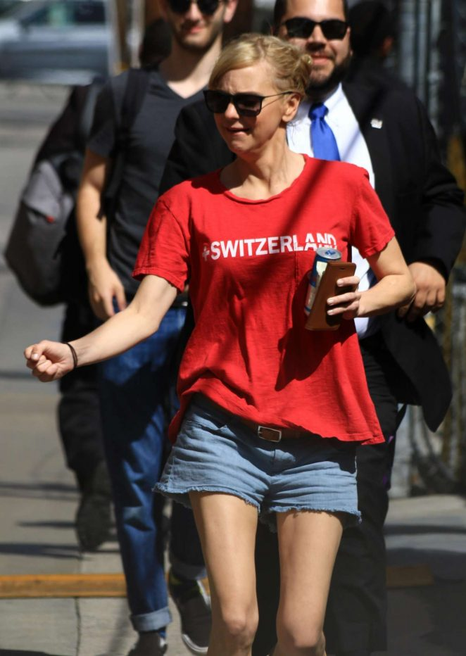 Anna Faris in Jeans Shorts - Arriving at Jimmy Kimmel Live! in LA