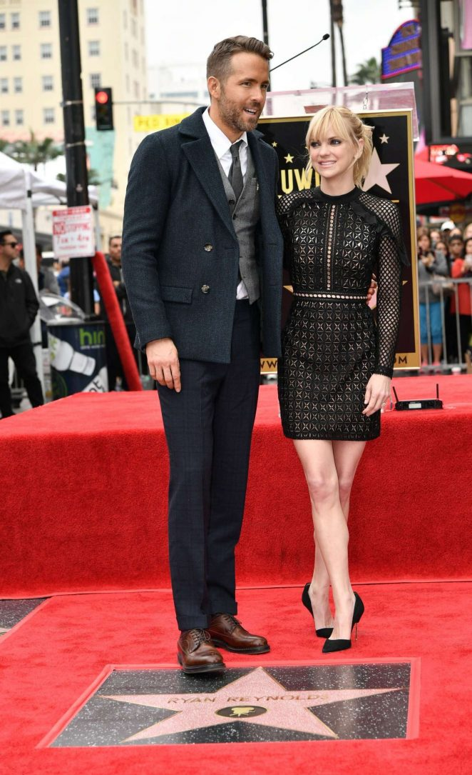 Anna Faris – Ryan Reynolds honored with star on The Hollywood Walk of Fame in LA