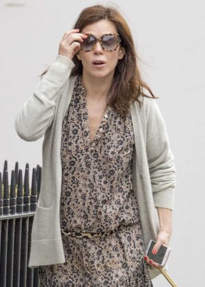 Anna Friel walks her dog in Windsor