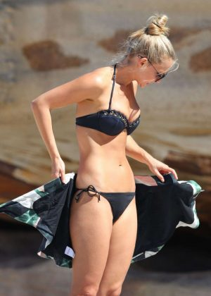 Anna Heinrich in Black Bikini in Sydney