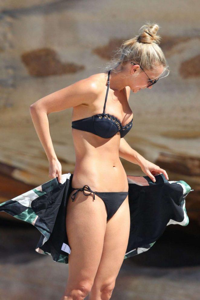 Anna Heinrich in Black Bikini in Sydney