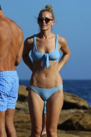 Anna Heinrich in Blue Bikini at Bondi beach in Sydney
