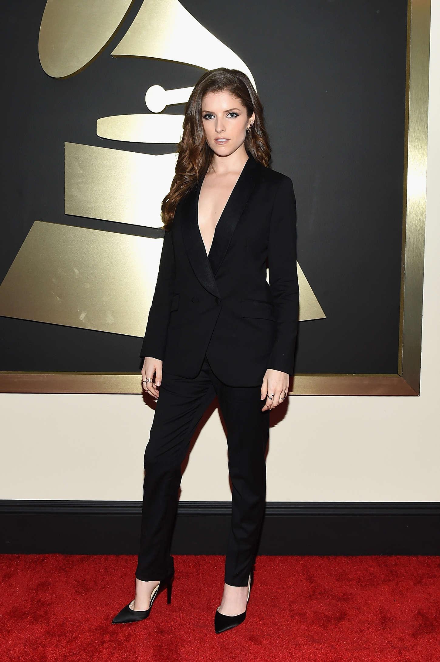 Anna Kendrick 2015 : Anna Kendrick: 2015 GRAMMY Awards -03