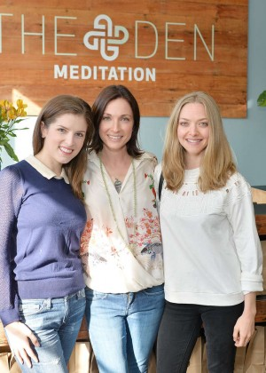 Anna Kendrick and Amanda Seyfried - DEN Meditation Studio Grand Opening in LA
