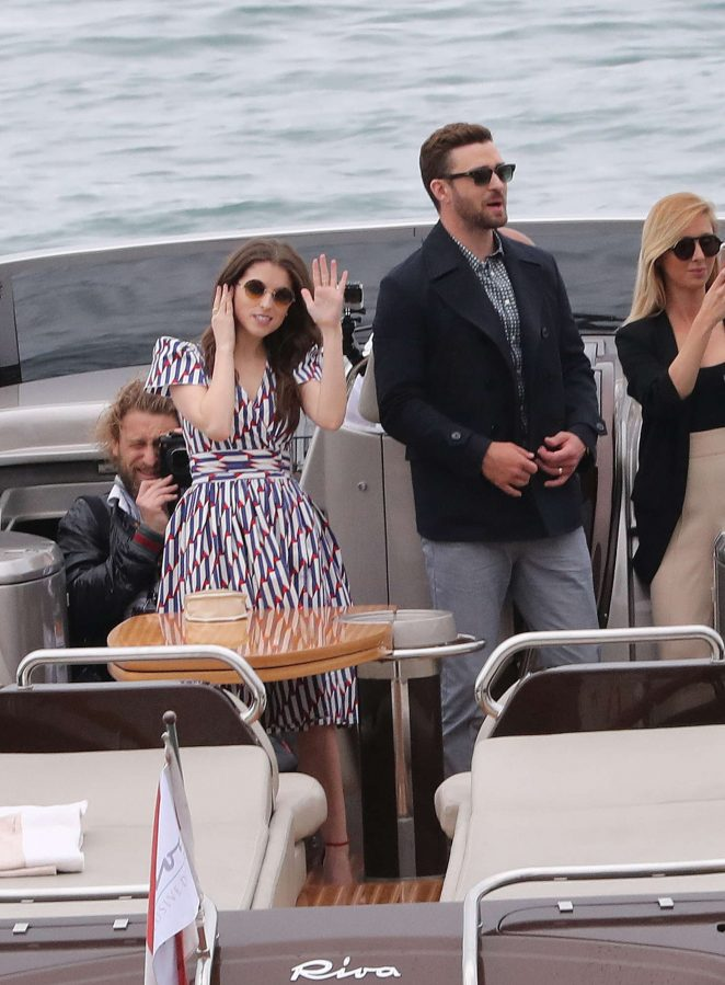 Anna Kendrick and Justin Timberlake on Boat in Cannes
