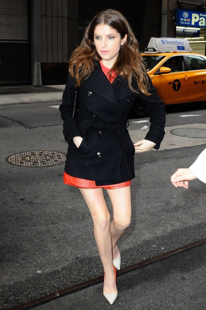 Anna Kendrick - Arrives at Good Morning America in New York