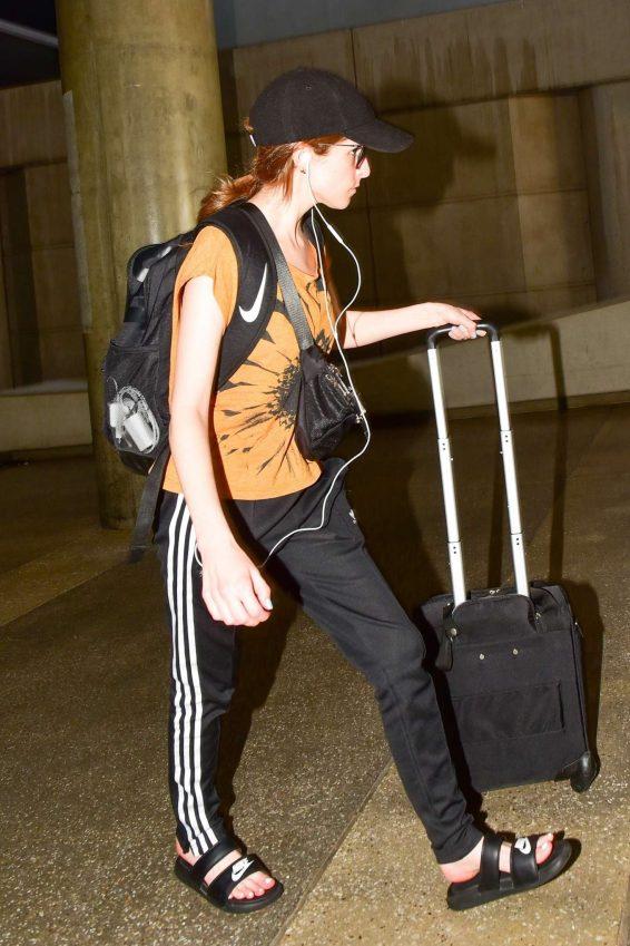 Anna Kendrick - Arrives at LAX International Airport in LA