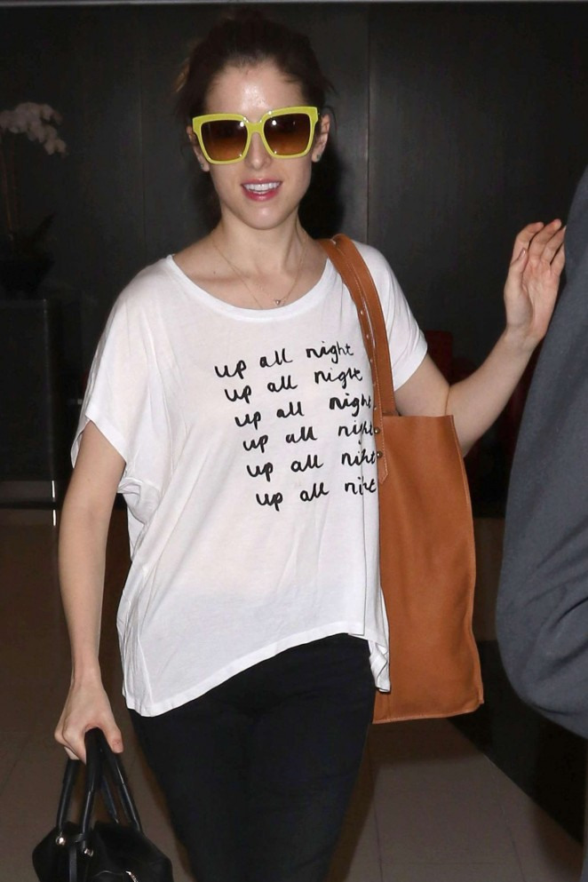 Anna Kendrick - Arriving at LAX airport in LA