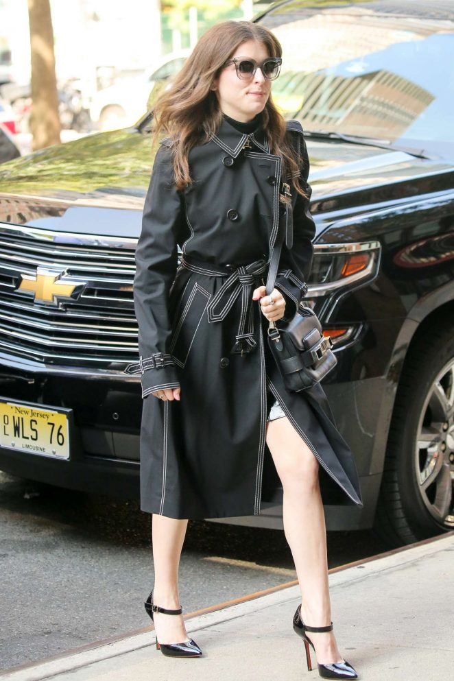 Anna Kendrick - Arriving to her Hotel in New York City