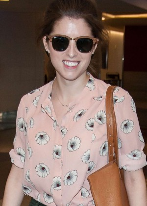 Anna Kendrick at LAX Airport in LA