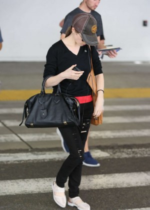 Anna Kendrick at LAX in LA