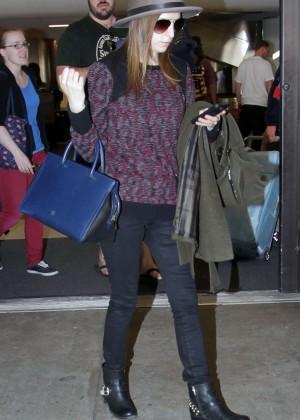 Anna Kendrick at Los Angeles International Airport