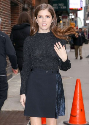 Anna Kendrick at The Late Show with Stephen Colbert in NY