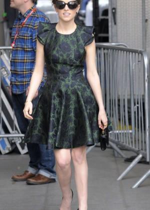 Anna Kendrick in Mini Dress at BBC Radio 1 in London
