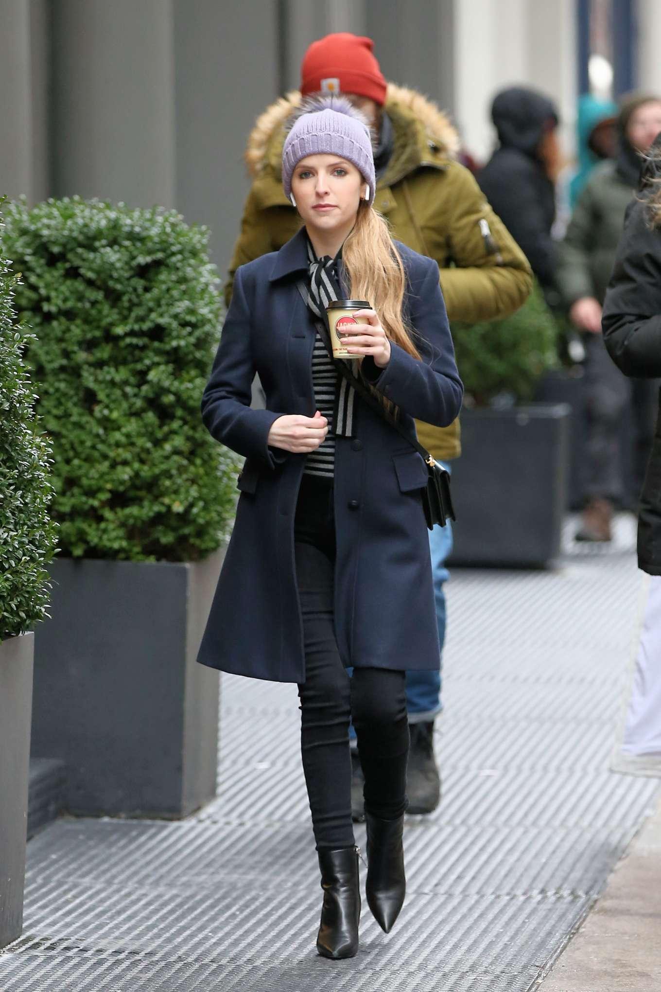 Anna Kendrick - Filming 'Love Life' Set in New York City