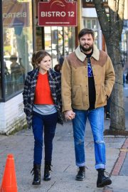 Anna Kendrick - Filming scenes for 'Love Life' in Tarrytown, NY