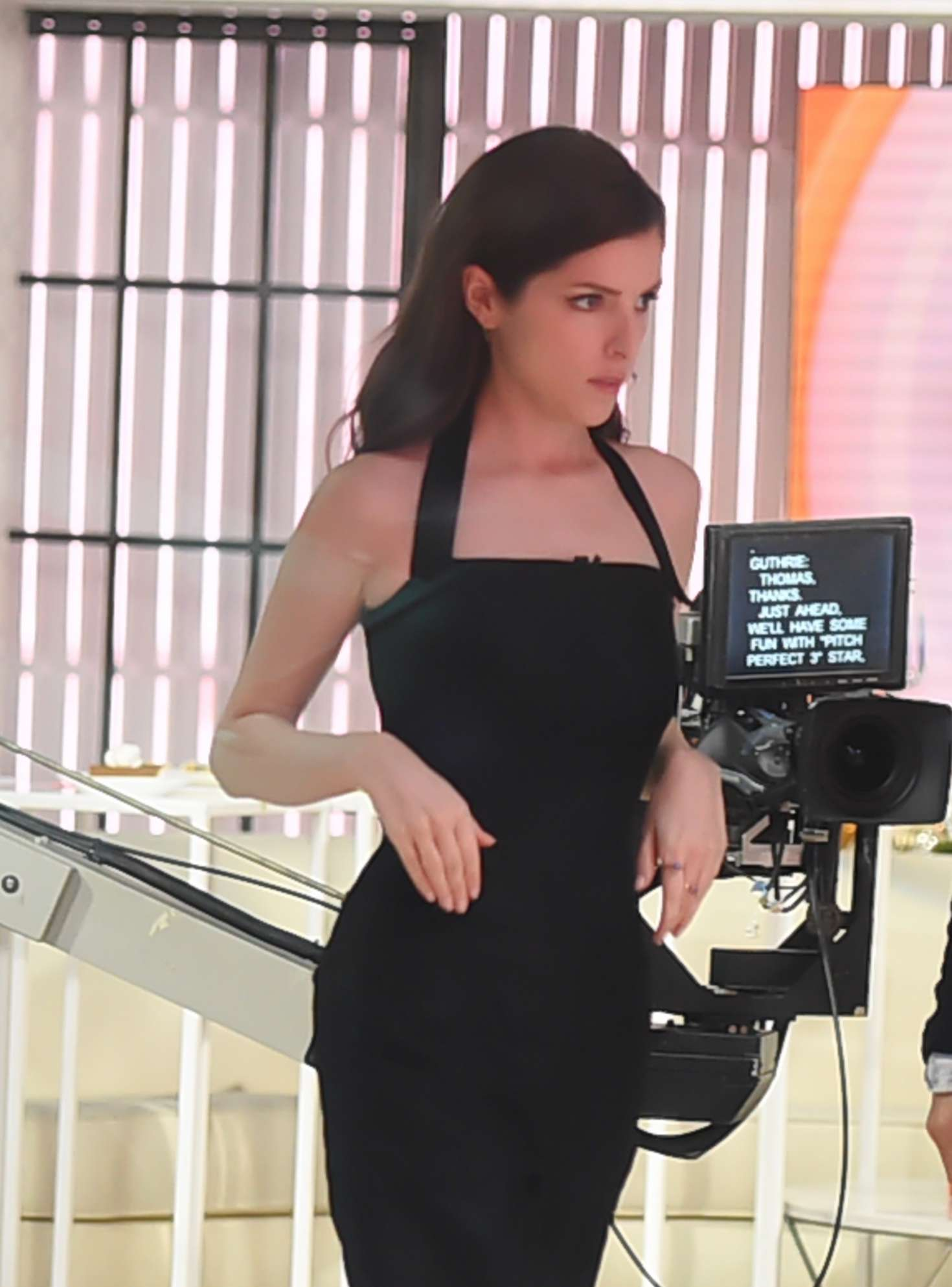 e7b70d65873 Anna Kendrick in Black Dress at The  Today Show  in NYC – GotCeleb
