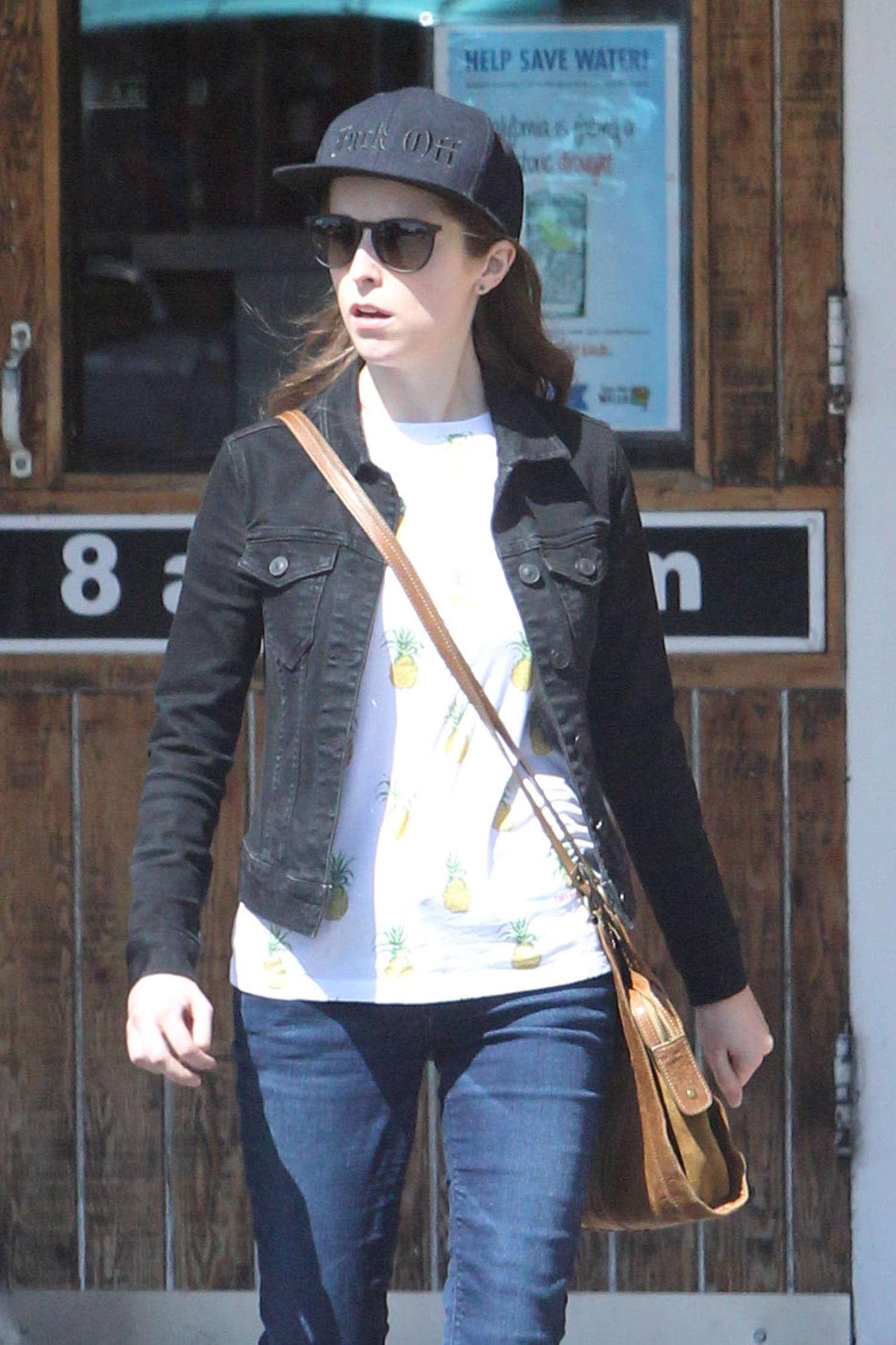 Anna Kendrick in Jeans at Sherman Oaks in LA