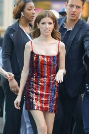 Anna Kendrick in Mini Dress - Out in New York City