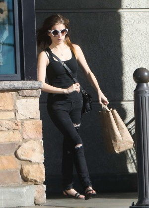 Anna Kendrick in Rappid Jeans out in LA