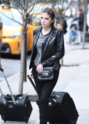 Anna Kendrick - Leaving her Hotel in Manhattan