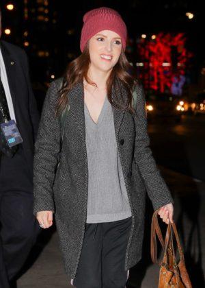 Anna Kendrick - Leaving NBC studios The Tonight Show in New York City