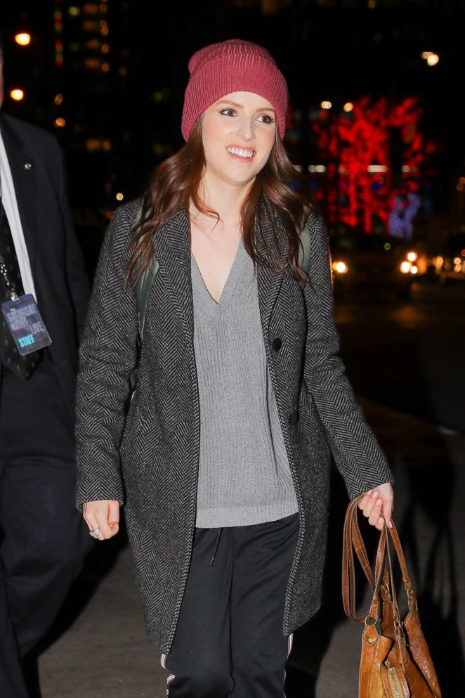 Anna Kendrick – Leaving NBC studios The Tonight Show in New York City