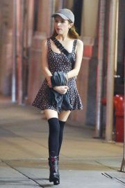 Anna Kendrick - Night out and about in NY