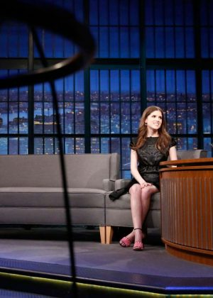 Anna Kendrick on 'Late Night with Seth Meyers' in New York City