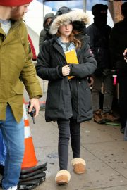 Anna Kendrick - On the set of 'Love Life' Filming in Brooklyn