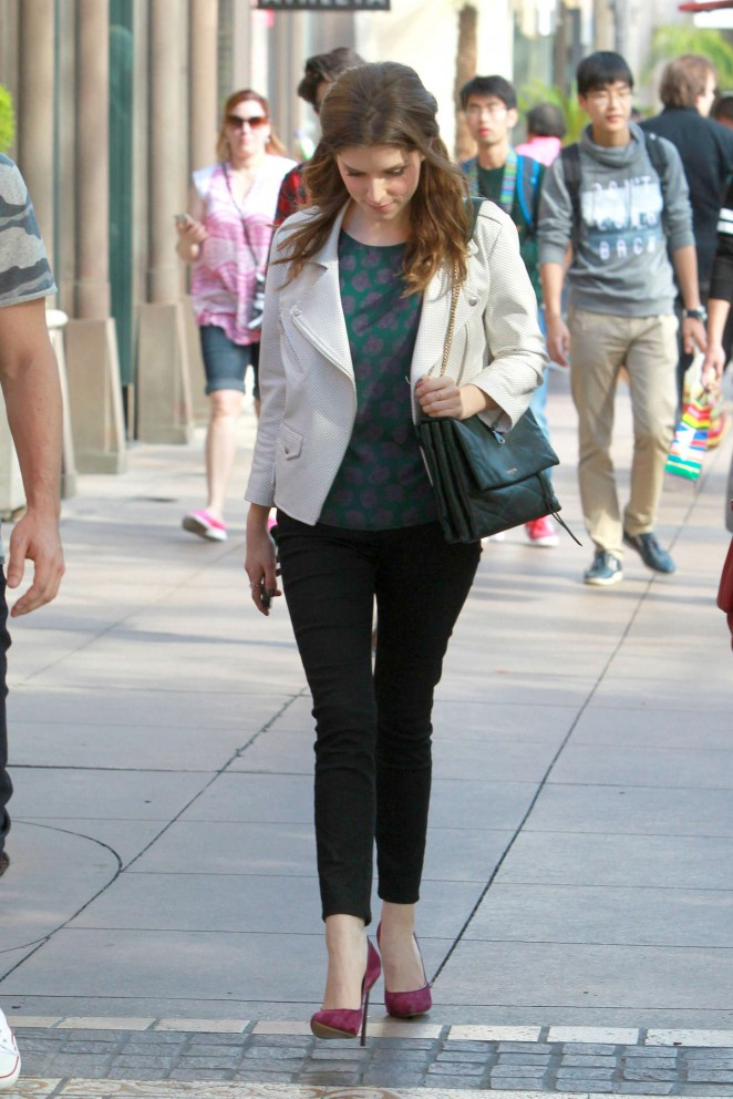 Anna Kendrick in Tight Pants at The Grove in West Hollywood