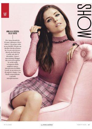 Anna Kendrick - Vanity Fair Italy Magazine (December 2018)