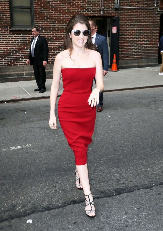 Anna Kendrick Visiting The Late Show With Stephen