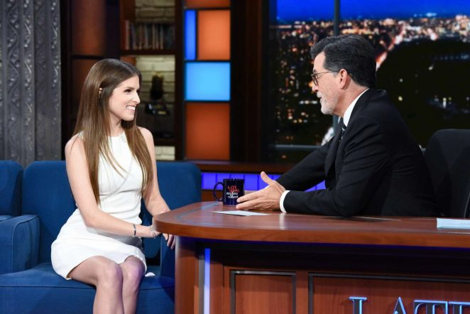 Anna Kendrick - Visits The Late Show With Stephen Colbert in NY