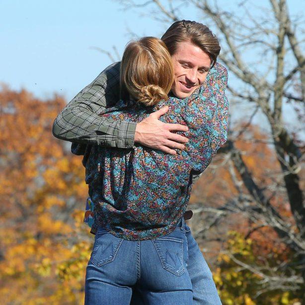 Anna Paquin - 'Modern Love' set in Collins Park in Schenectady