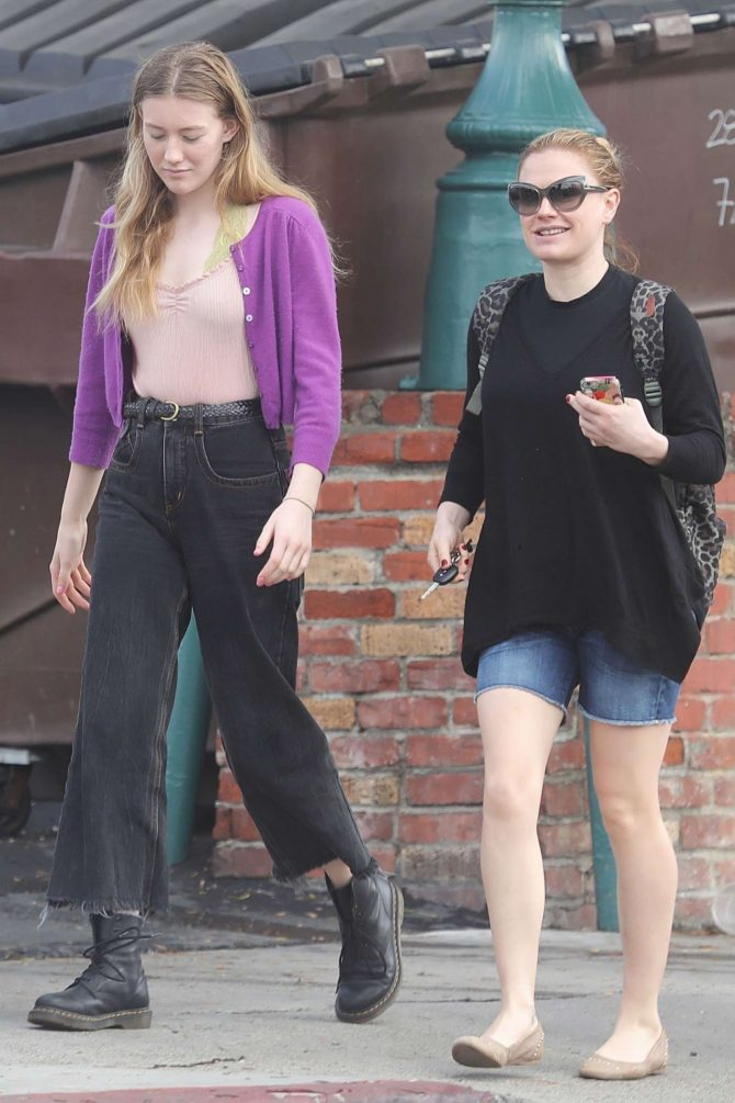 Anna Paquin with a friend out in Venice