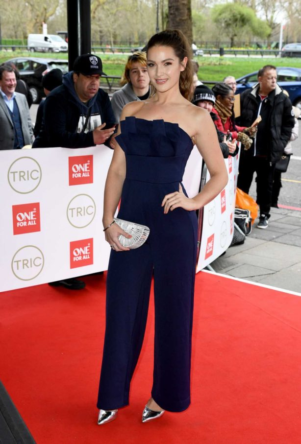 Anna Passey - Wears royal blue at TRIC Awards 2020 in London