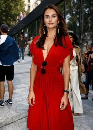 Anna Safroncik - Arrives at the Alberta Ferretti Fashion Show in Milan