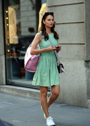 Anna Safroncik in Mini Dress - Out in Milan