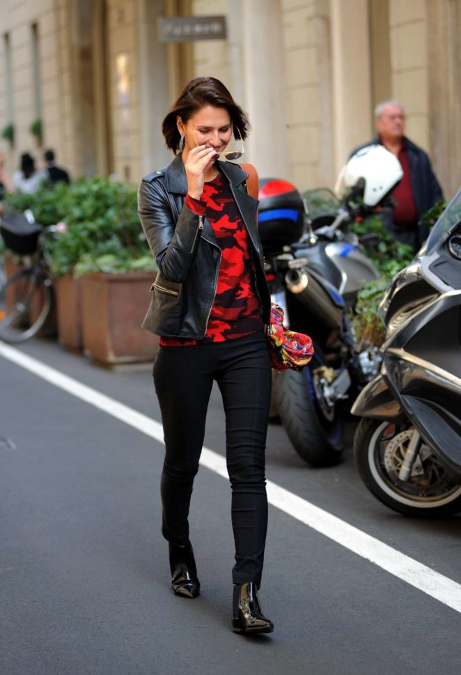 Anna Safroncik - Seen after lunch at a restaurant on Via Montenapoleone
