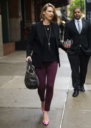 Anna Torv - Leaving her hotel in New York City