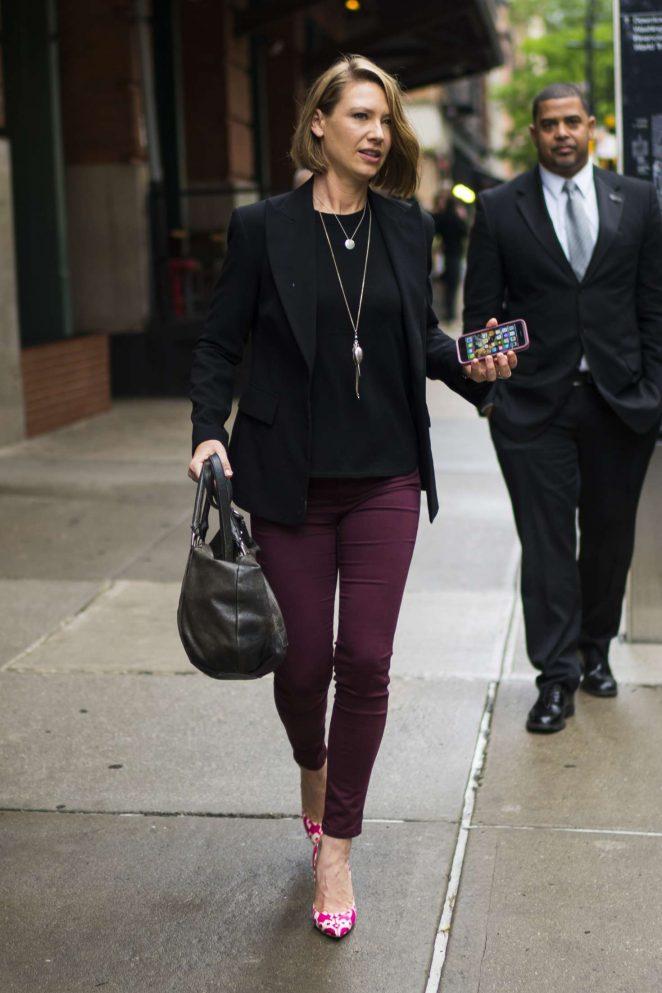 Anna Torv - Leaving her hotel in New York City