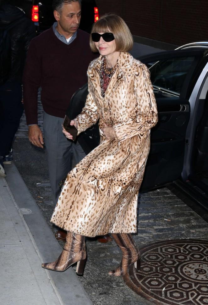 Anna Wintour - Calvin Klein 2016 Fashion Show in NYC